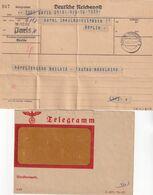 ALLEMAGNE 1937 TELEGRAMME DE PARIS POUR BERLIN - Briefe U. Dokumente