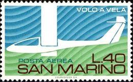 San Marino 1974 Scott C130 Sello ** Avuelo Sin Motor Avión Aniv. Gliding In Italy Michel 1077 Yvert PA140 Stamps Timbre - San Marino
