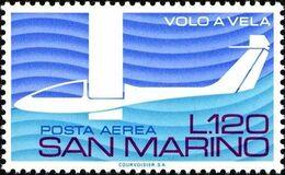 San Marino 1974 Scott C131 Sello ** Avuelo Sin Motor Avión Aniv. Gliding In Italy Michel 1078 Yvert PA141 Stamps Timbre - San Marino