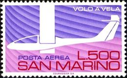 San Marino 1974 Scott C132 Sello ** Avuelo Sin Motor Avión Aniv. Gliding In Italy Michel 1079 Yvert PA142 Stamps Timbre - San Marino