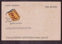 """Buvard ( 20.5 X 13.5 Cm ) """" Shell """" Huile Pour Moteurs ( Rousseurs ) - Automotive"""
