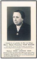 Dp. Van Balen Maria. Wed. Dries Peter. ° Olmen 1880 † Olmen-Stotert 1960 - Religion &  Esoterik