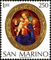 San Marino 1974 Scott 852 Sello ** Virgin And Child Century Wood Panel Virgen Y Niño Michel 1082 Yvert 885 Stamps Timbre - San Marino