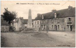 56 CAMPENEAC - La Place De L'Eglise Et Le Monument - Other Municipalities