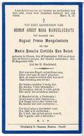 Dp. Mangelschots Herman. Zoontje V. Mangelschots August En Van Balen Maria. ° Olmen 1933 † Olmen 1936 - Religion &  Esoterik