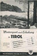 Österreich - Tirol 1939 - Wildschönau Wörgler Skihütte Lodronhütte Bichlalm - 8 Seiten Mit 6 Abbildungen - Folletos Turísticos