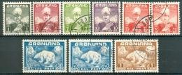 GROENLAND-GREENLAND 1938-46 Christian X En IJsbeer Serie GB-USED. - Used Stamps
