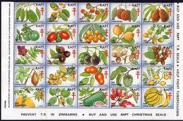 Zimbabwe - 1980 RAPT Indigenous Fruits Set (**) - Fruits