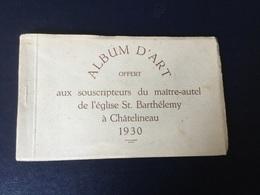 Carnet Complet De Cartes Sur L'église Saint Barthélémy A Chatelineau (1930). Tirage Limité - Chatelet