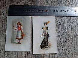 2 Chromos Images  Chocolat Grootes Westzaan Hollande Chromo Mode Enfant - Autres