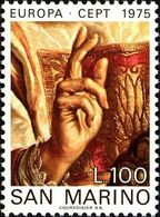 San Marino 1975 Scott 858 Sello ** Europa CEPT Pinturas De Guercino (Francesco Barbieri) Michel 1088 Yvert 891 Stamps - San Marino