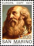 San Marino 1975 Scott 859 Sello ** Europa CEPT Pinturas De Guercino (Francesco Barbieri) Michel 1089 Yvert 892 Stamps - San Marino