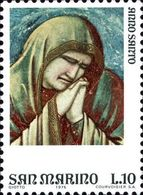 San Marino 1975 Scott 860 Sello ** Año Santo Arte Frescos De Giotto En La Capilla Scrovegni Padua Lamentación Michel1090 - San Marino