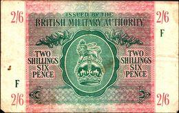 """20025) BANCONOTA DELLA  BRITISH MILITARY AUTORITY """" 2/6 SHILLINGS """"    -banconota Non Trattata.vedi Foto - [ 3] Emissions Militaires"""