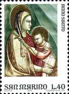 San Marino 1975 Scott 861 Sello ** Año Santo Arte Frescos De Giotto En La Capilla Scrovegni Padua La Virgen Y El Niño - San Marino