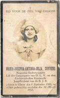 Dp. Onderwijzeres-Regentes. Cuyvers Maria. ° Olmen 1908 † Olmen 1932 - Religion &  Esoterik