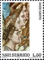 San Marino 1975 Scott 862 Sello ** Año Santo Arte Frescos De Giotto En La Capilla Scrovegni Padua Cuatro Angeles Mi 1092 - San Marino