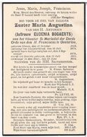 Dp. Zuster Maria-Augustina. Bogaerts Eugenia. ° Olmen 1859 † Olmen 1924 - Religion &  Esoterik