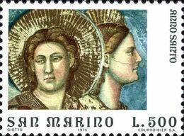 San Marino 1975 Scott 864 Sello ** Año Santo Arte Frescos De Giotto En La Capilla Scrovegni Padua Juicio Final Mi. 1094 - San Marino