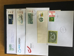 Lot De 5 Plis Affranchis Avec Des Timbres Personnalisés De Belgique - Personalisierte Briefmarken