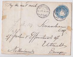 Entier Postal Port-Saïd Egypte Ten Millièmes Egypt Postage Stationery Cover To Utrecht - 1866-1914 Khedivato Di Egitto