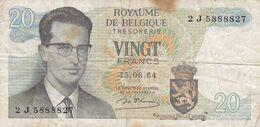 Billet  -  Belgique - 20 Francs - [ 2] 1831-... : Royaume De Belgique