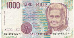 Billet  -  Italie  -  1000  Lires  1990 - [ 2] 1946-… : Repubblica