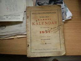 Veliki Sareni Kalendar Za 1937 Godinu Sa Mnogo Slika Koprivnica - Books, Magazines, Comics