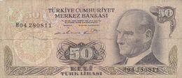 Billet  - Turquie   -  50  Lirasi 1970 - Turquie