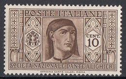 """Italia 1932 Uf. 303 """"Pro S. N. Dante Alighieri"""" Giovanni Boccaccio Nuovo MNH - Ungebraucht"""