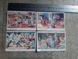 4 Images Les Grands Voyages De Roudoudou Gervèse Indes Maroc Sénégal France Phosphatines Falières - Old Paper