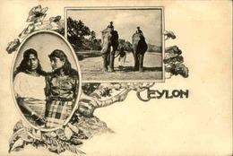 CEYLAN - Carte Postale - Éléphants Et Types De Ceylan  - L 66377 - Sri Lanka (Ceylon)