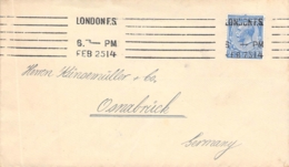 Cover 2 1/2 Penny London - Osnabrück 1914 - 1902-1951 (Könige)
