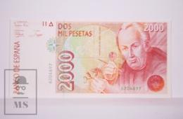 Banknote Spain - 2000 Pesetas - April 1992 - José Celestino Mutis - No Letter Series - Condition UNC - [ 4] 1975-… : Juan Carlos I