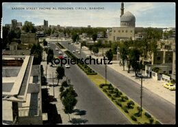 ÄLTERE POSTKARTE SADOON STREET FACING AL FERDOWS CIRCLE Baghdad Irak Iraq Bagdad Cpa AK Postcard Ansichtskarte - Iraq