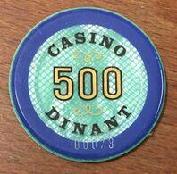 BELGIQUE DINANT JETON DE CASINO DE 500 FRANCS N° 00073 CHIP TOKEN COIN - Casino