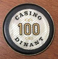 BELGIQUE DINANT JETON DE CASINO DE 100 FRANCS N° 00214 CHIP TOKEN COIN - Casino