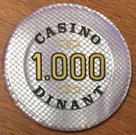 BELGIQUE DINANT JETON DE CASINO DE 1.000 FRANCS N° 00449 CHIP TOKEN COIN - Casino