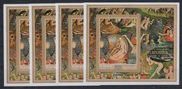 O24. 4x Manama - MNH - Art - Paintings - Flemish - Imperf - Wholesale - Art