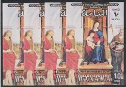 O24. 4x Manama - MNH - Art - Paintings - Christmas 1970 - Imperf - Wholesale - Art