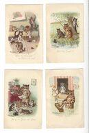 LOUIS WAIN   8 Cartes  Chats Cats ( Quelques Défauts ) - Chats
