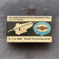 Badge Pin ZN009415 - Rowing Kayak Canoe Yugoslavia Slovenia Bled World Championship 1966 MARTINI INTERNATIONAL CLUB - Remo