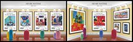 TOGO 2015 - H. Matisse - YT CV=41 €, 4882-5 + BF1083 - Impresionismo