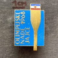 Badge Pin ZN009418 - Rowing Kayak Canoe Yugoslavia Bosnia Jajce Olympics 1968 - Remo