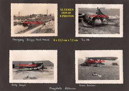 ÄLTEREN-Aalter-??-TERRAIN D'AVIATION-AVIONS Abattus-8x PHOTOS All. Collee-Guerre 39-45-2 WK-Militaria-BELGIEN-Flandern- - Aalter
