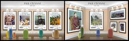TOGO 2015 - P. Cezanne - YT CV=41 €, 4886-9 + BF1084 - Impresionismo