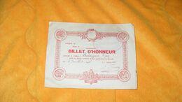 BILLET D'HONNEUR ANCIEN DE 1938..ECOLE PUBLIQUE DE GARCONS DE MONTFERRAND..GROUPE MICHELET.. - Diploma's En Schoolrapporten
