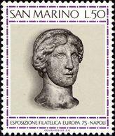 San Marino 1975 Scott 867 Sello ** EUROPA Exposición Filatélica Napoles Michel 1096 Yvert 899 Stamps Timbre Saint Marin - San Marino