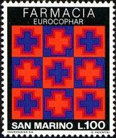 San Marino 1975 Scott 868 Sello ** EUROCOPHAR Congreso Farmaceutico Internacional Michel 1095 Yvert 898 Stamps Timbre Sa - San Marino