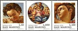 San Marino 1975 Scott 869/71 Sellos ** Navidad Arte Doni Madonna Pinturas De Michelangelo Michel 1102/4 Yvert 905/7 - San Marino